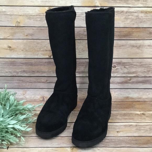 UGG Shoes   Ugg Kara Black Suede Boots